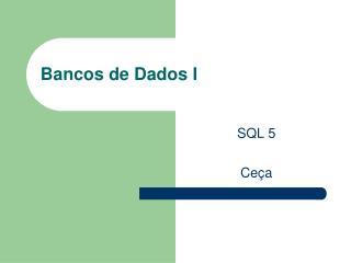Bancos de Dados I