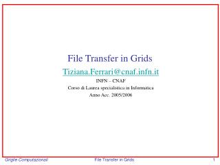 File Transfer in Grids
