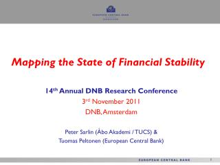 Mapping the State of Financial Stability