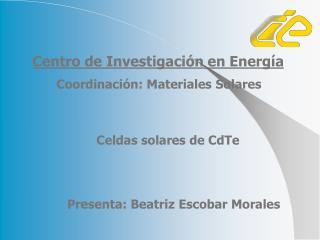 Celdas solares de CdTe
