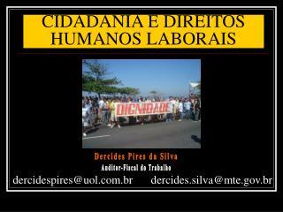 CIDADANIA E DIREITOS HUMANOS LABORAIS