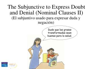 The Subjunctive to Express Doubt and Denial (Nominal Clauses II)