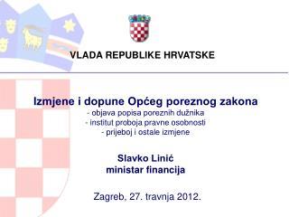 Zagreb, 27. travnja 2012.