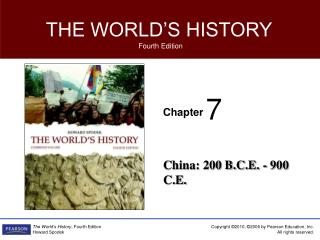 China: 200 B.C.E. - 900 C.E.