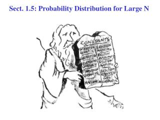 Sect. 1.5: Probability Distribution for Large N