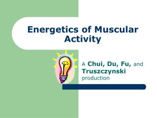 Energetics of Muscular Activity