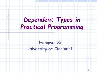 Dependent Types in Practical Programming