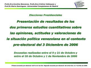 Elecciones Presidenciales Presentación de resultados de los