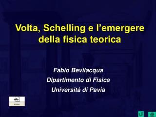 Volta, Schelling e l emergere della fisica teorica
