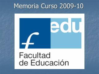 Memoria Curso 2009-10