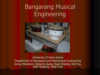 Bangarang Musical Engineering