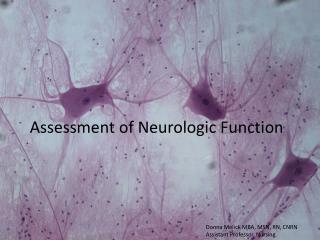 Assessment of Neurologic Function