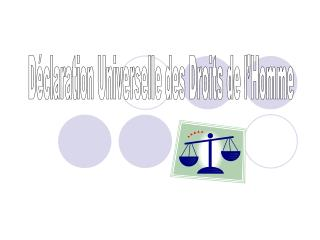 D�claration Universelle des Droits de l�Homme