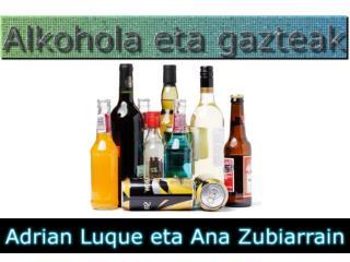 Zenbat gaztek edaten dute alkohola?