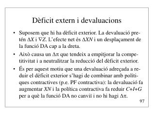 D�ficit extern i devaluacions