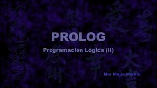 PROLOG Programación Lógica (II)