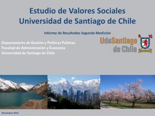 Estudio de Valores Sociales  Universidad de Santiago de Chile