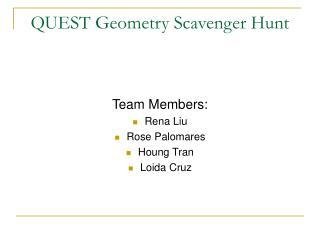 QUEST Geometry Scavenger Hunt