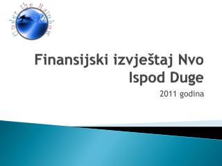 Finansijski izvještaj Nvo Ispod Duge