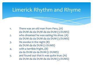 Limerick Rhythm and Rhyme