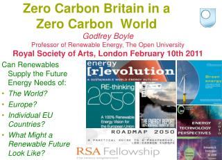Zero Carbon Britain in a  Zero Carbon  World