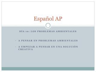 Español  AP