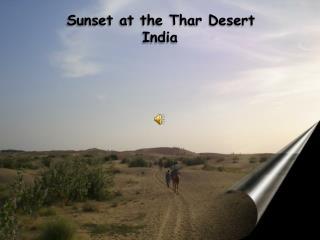 Sunset  at  the Thar Desert India