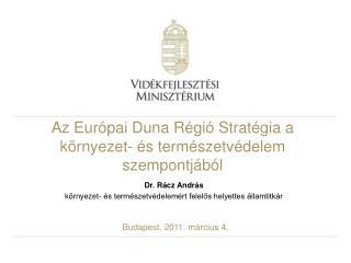 Az Európai Duna Régió Stratégia a környezet- és természetvédelem szempontjából