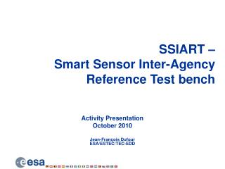 SSIART –  Smart Sensor Inter-Agency  Reference Test bench