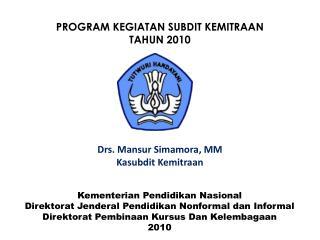 Kementerian Pendidikan Nasional Direktorat Jenderal Pendidikan Nonformal dan Informal