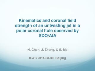 H. Chen, J. Zhang, & S. Ma ILWS 2011-08-30, Beijing