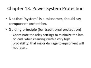 Chapter 13. Power System Protection