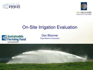 On-Site Irrigation Evaluation