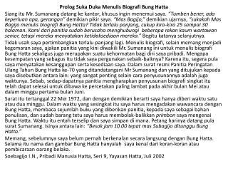 Prolog Suka Duka Menulis Biografi Bung Hatta
