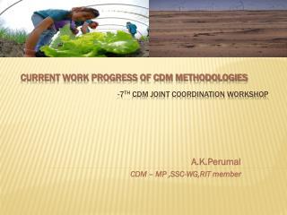 -7th CDM Joint Coordination Workshop