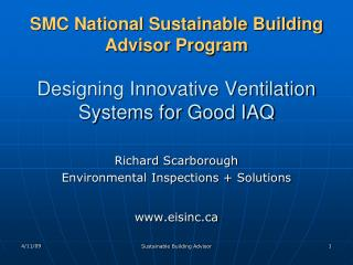 Richard Scarborough Environmental Inspections + Solutions eisinc