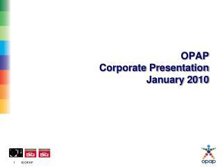 OPAP Corporate Presentation January 2010