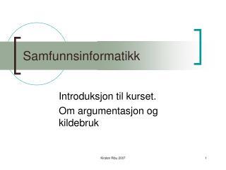 Samfunnsinformatikk