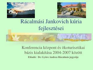 Rácalmási Jankovich kúria fejlesztései
