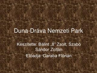 Duna-Dráva Nemzeti Park