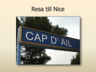 Resa till Nice