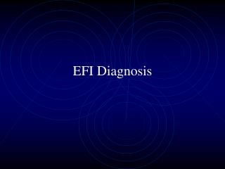 EFI Diagnosis