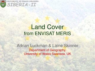 Land Cover from ENVISAT MERIS