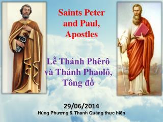 Saints Peter  and  Paul, Apostles