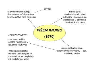 PIŠEM KNJIGO (1970)