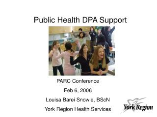 Public Health DPA Support