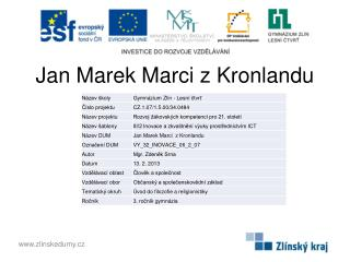 Jan Marek Marci z Kronlandu