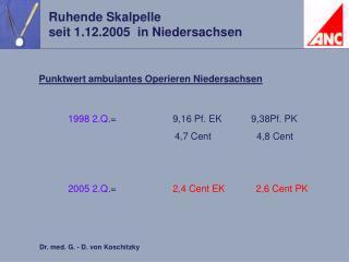 Punktwert ambulantes Operieren Niedersachsen