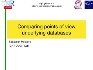 Comparing points of view  underlying databases
