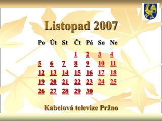 Listopad 2007